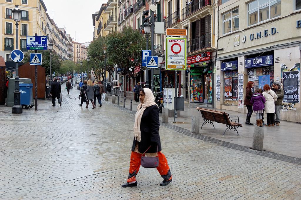 Типичная жительница района, по которому я гулял :)
