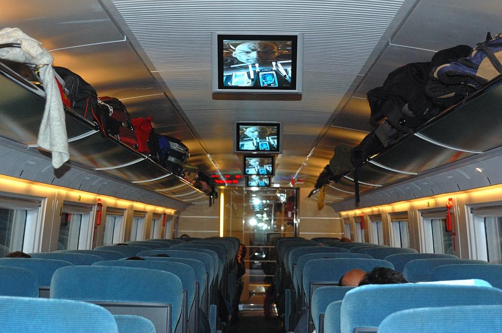 В салоне скоростного поезда AVE Мадрид-Барселона