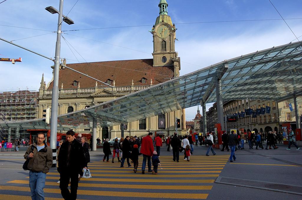 Остановка общественного транспорта на Вокзальной площади
