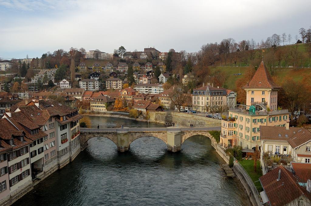 Вид на старый город и мост Унтерторбрюкке