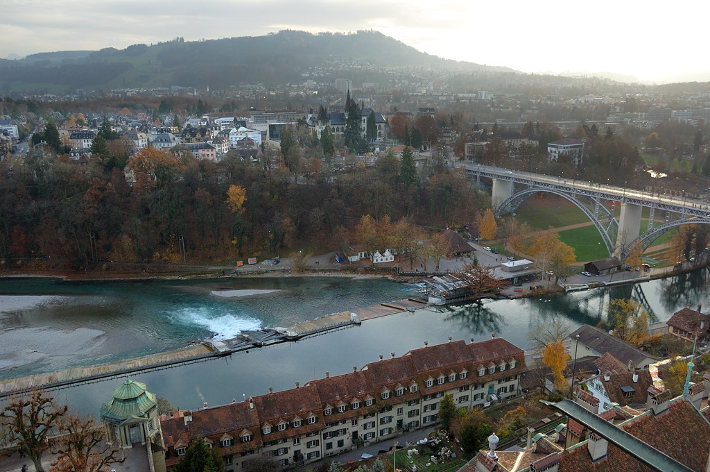 Вид с Мюнстера на мост Кирхенфельдбрюкке