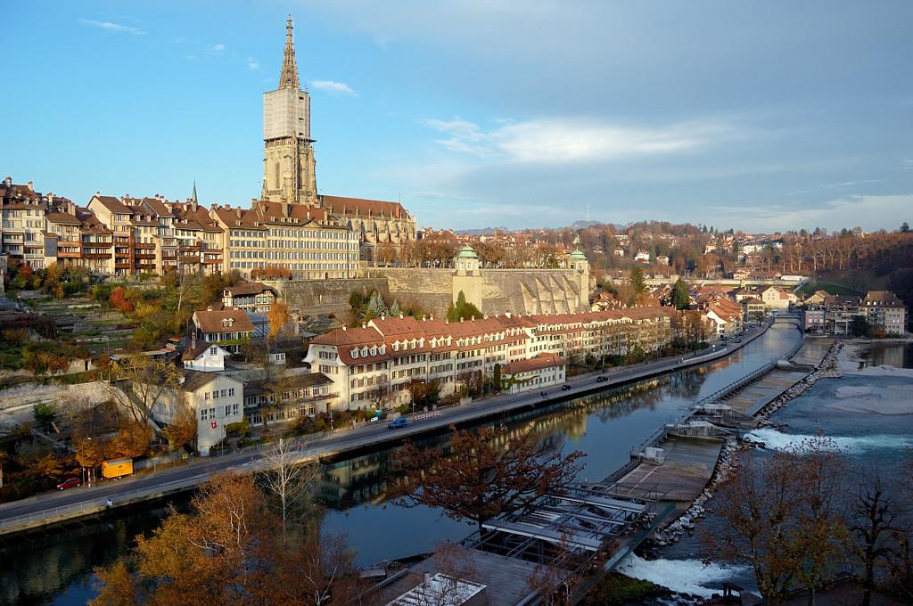 Вид на старый город с моста Кирхенфельдбрюкке