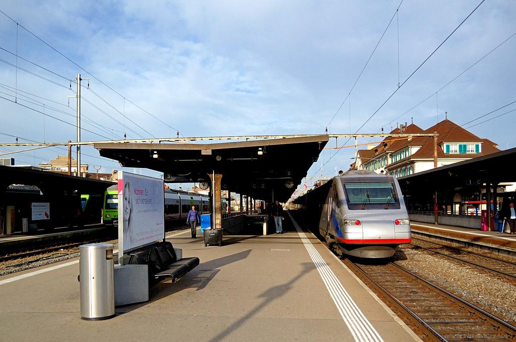 Поезд Cisalpino I прибыл в Тун