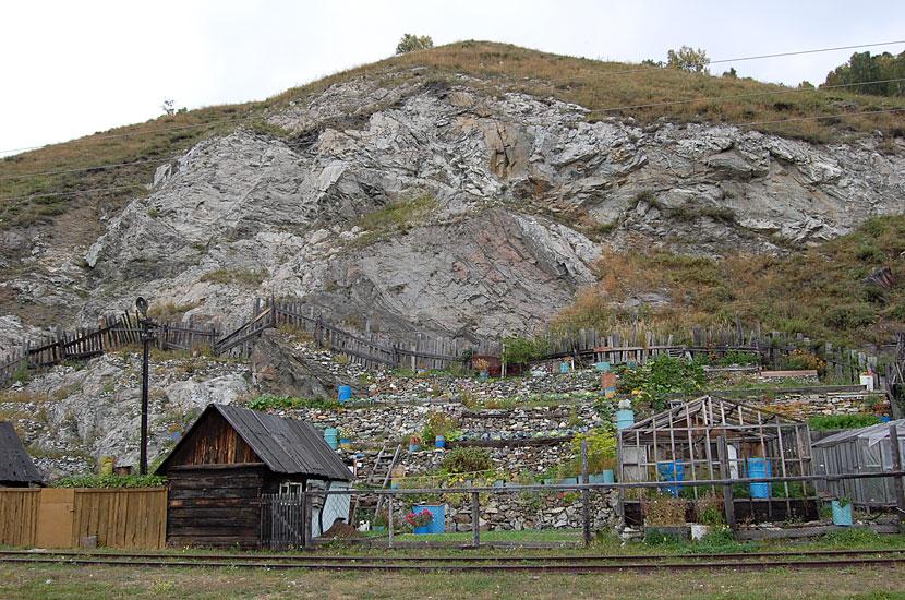 Порт Байкал. На скалах растет капуста