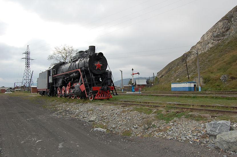 Порт Байкал. Паровоз-памятник. Или он на ходу ?