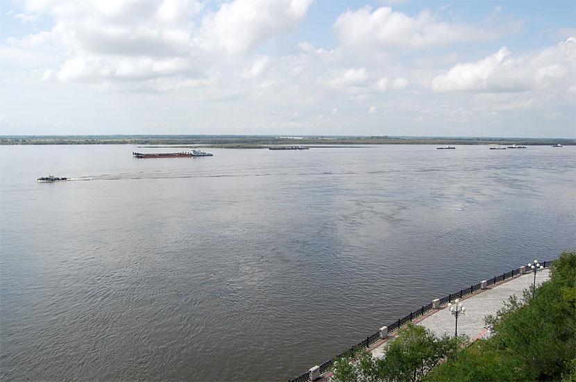 Вид на Амур со смотровой площадки