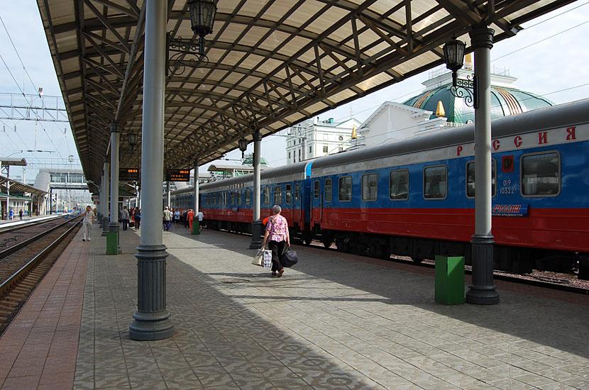 На вокзале в Красноярске