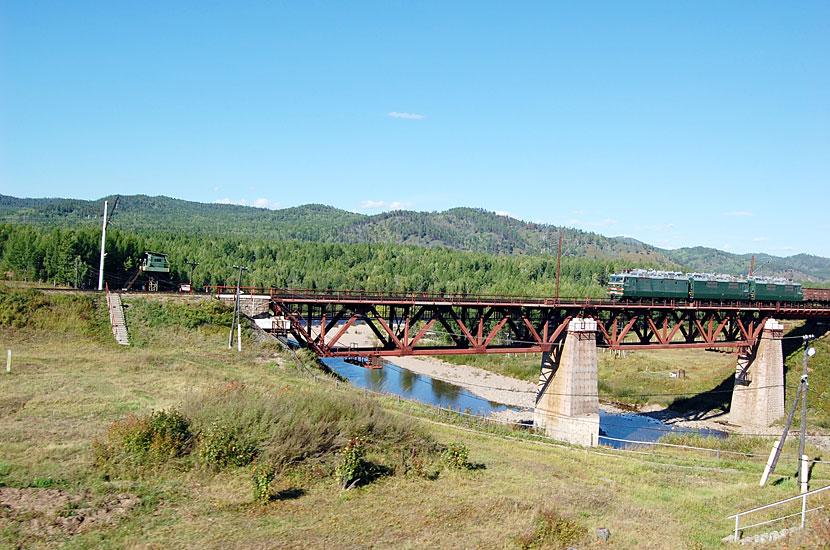 Читинская облась. Железнодорожный мост где-то между станциями Амазар и Ерофей Павлович