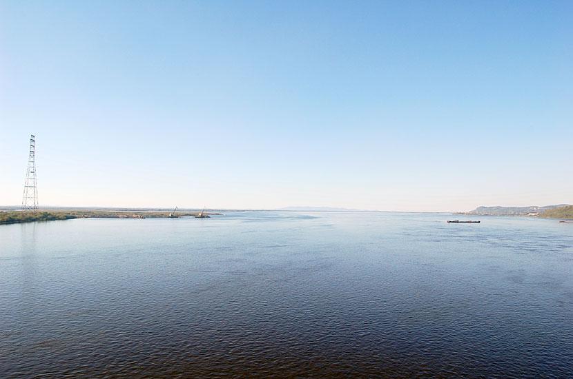 День шестой. Хабаровск, вид на Амур с железнодорожного моста