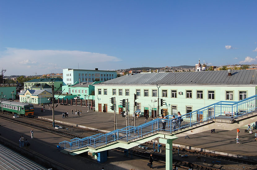На вокзале Улан-Удэ