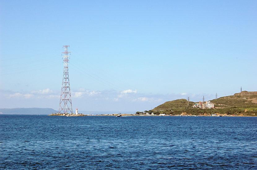 Это крайняя материковая точка Владивостока, мыс Токаревского, судя по карте