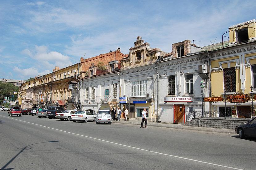 В историческом центре Владивостока, улица Пограничная