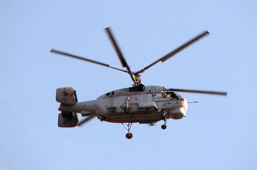 Флотский вертолет Ка-27. Снято со смотровой площадки с максимальным увеличением