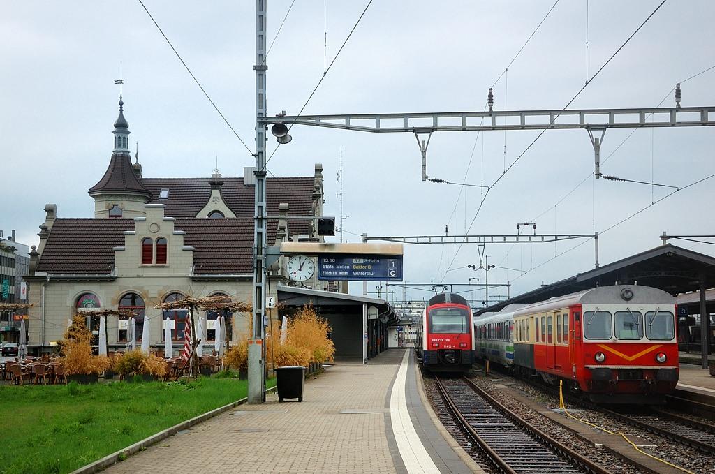 Поезда на вокзале Рапперсвиля