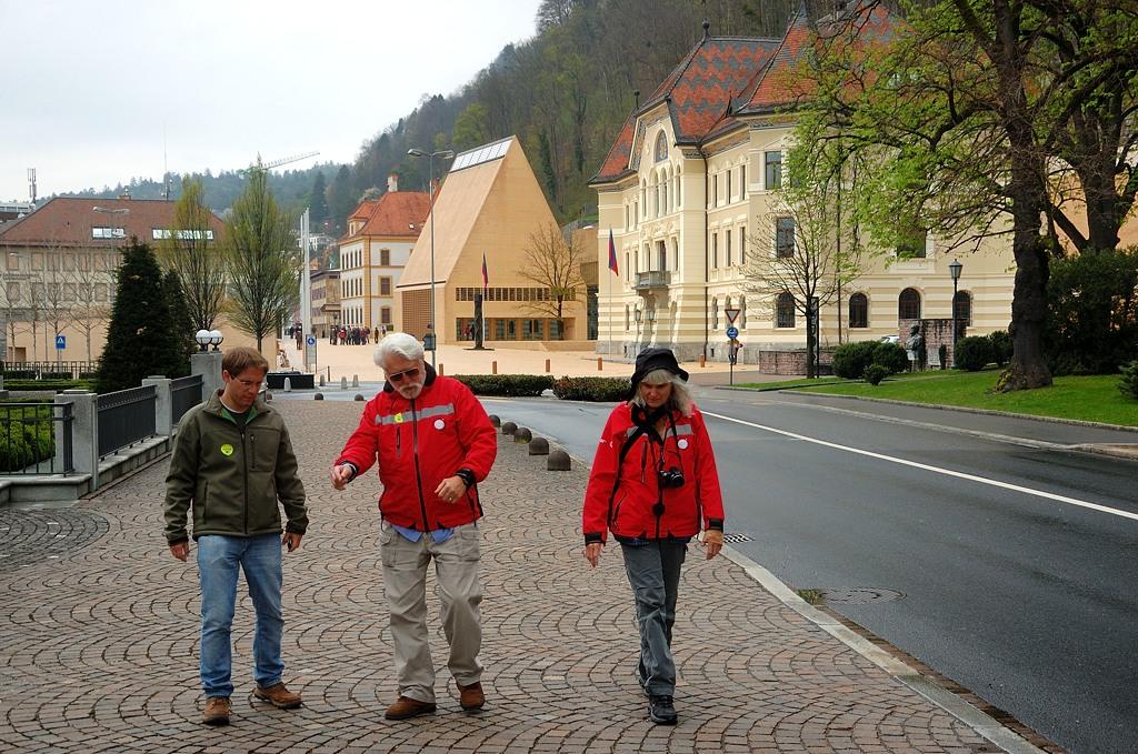 Туристы в центре Вадуца