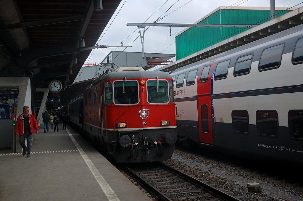 Поезда на вокзале Цюриха